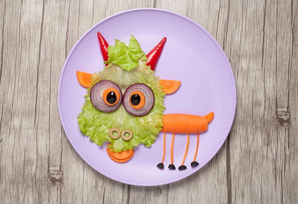 Goat made from veggies