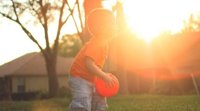 throwing a ball with your 17 months old