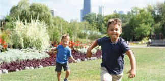 trotting physical movement in young children