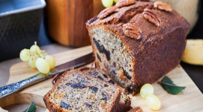 Prune, Walnut and Banana Breakfast Loaf