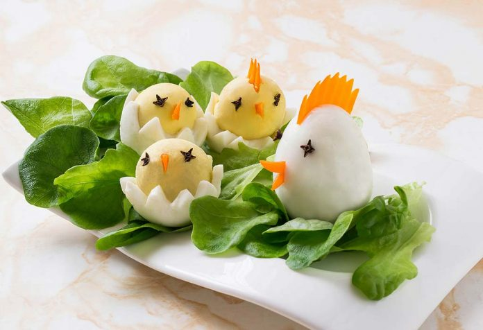 chick eggs recipe