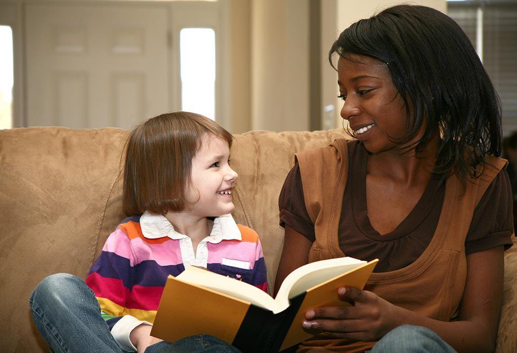 Child with babysitter
