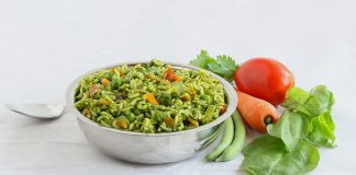 Palak Mint Pulao for Fussy Toddlers