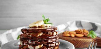 Chocolate Fig and Banana Pancakes Recipe