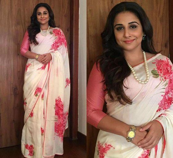 Flattering saree material