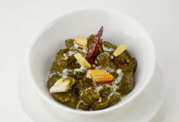 palak baby corn sabji recipe