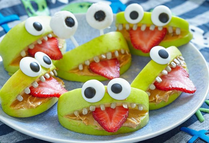 apple almond monster mouths