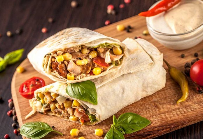 wheat-tortilla-wrap-with lentil and veggies recipe