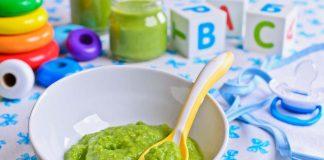 green puree boiled brocolli spinach peas recipe