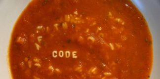 Tomato Soup with Pasta Alphabets