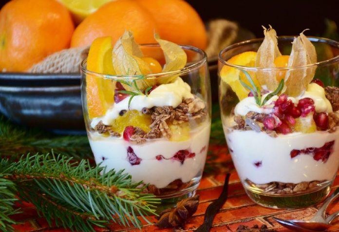 Saffron Yoghurt Fruit Trifle