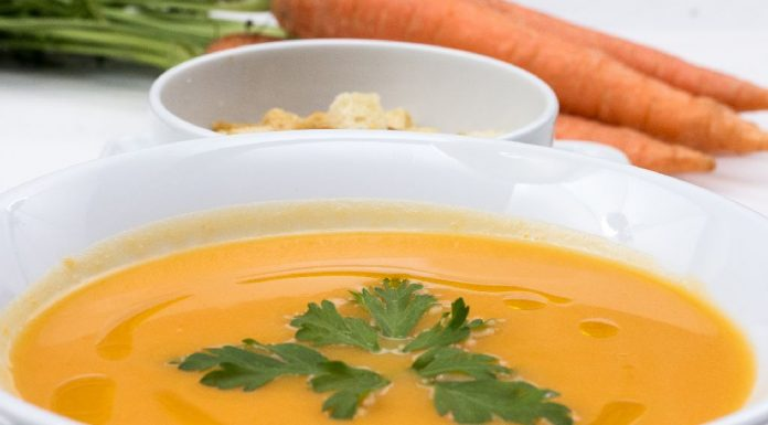 Cream of Carrot and Bottle Gourd Soup