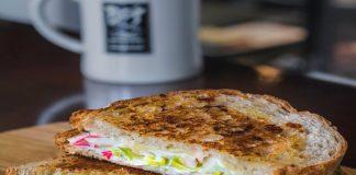 Yoghurt and Cheese Sandwich