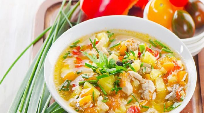Chicken soup with veggies