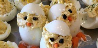 Easter devil eggs