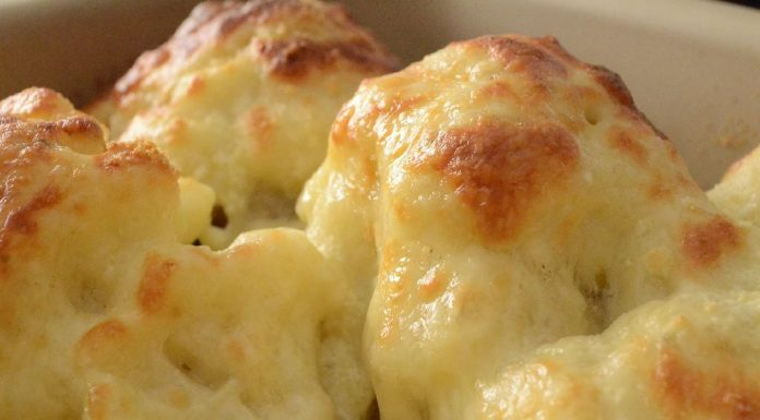 Roasted Cauliflower with Cheese