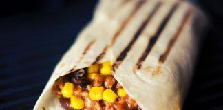 Cheesy Sweet Corn Paneer Wrap