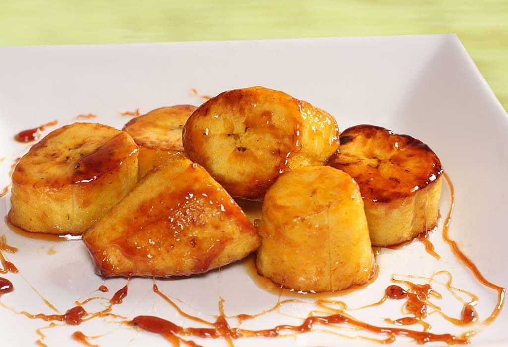 Plantains in Rum Sauce