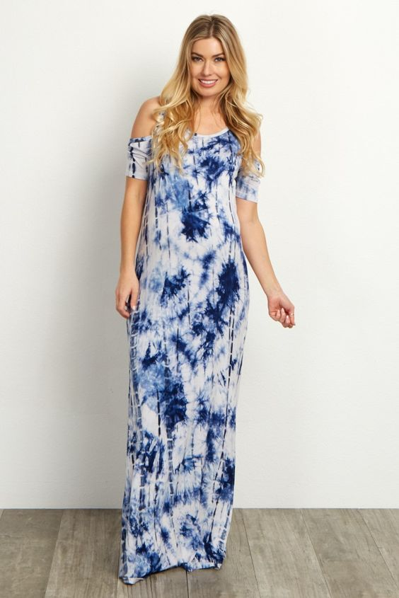 Tie and Dye Maxi Dress