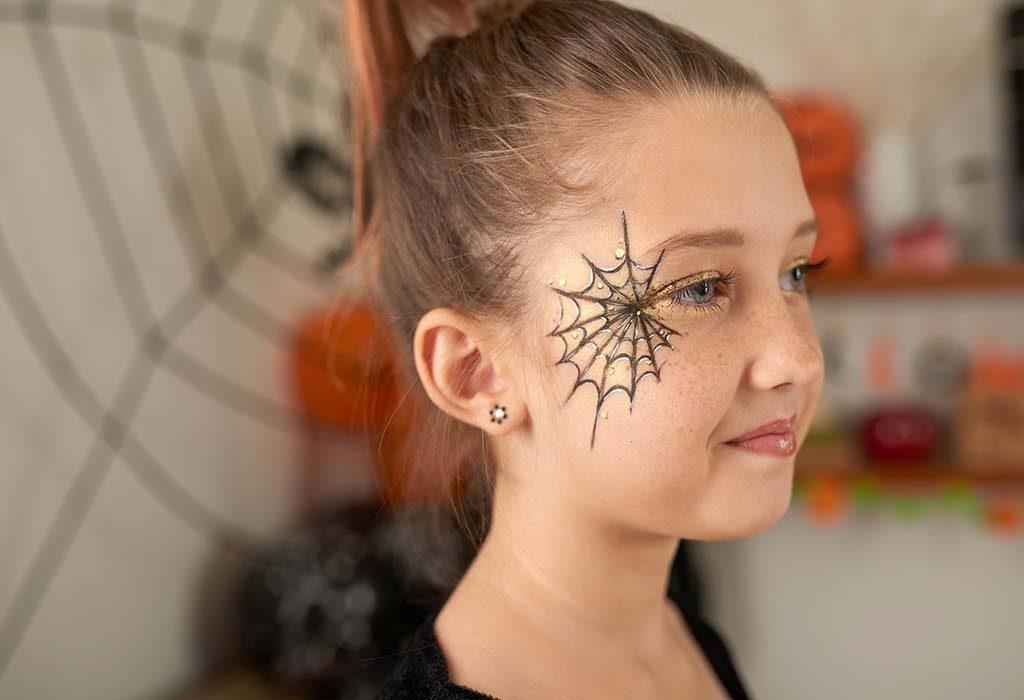 Cobweb Eyes Halloween Makeup