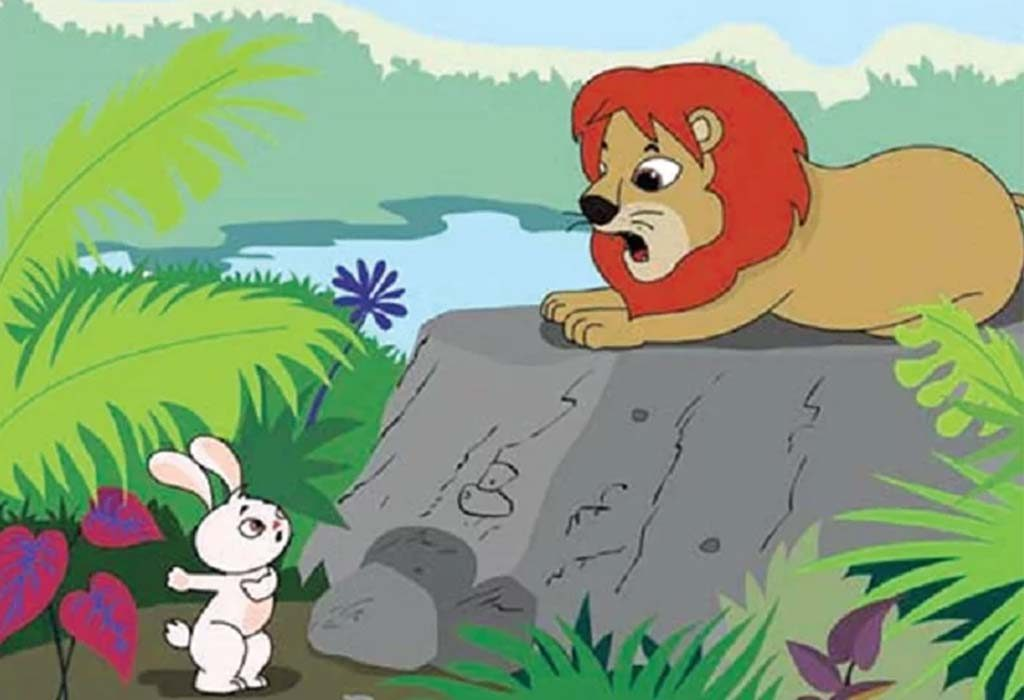 Lion Angry at Rabbit