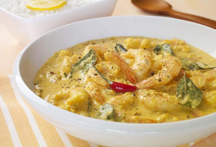 prawns in coconut curry recipe