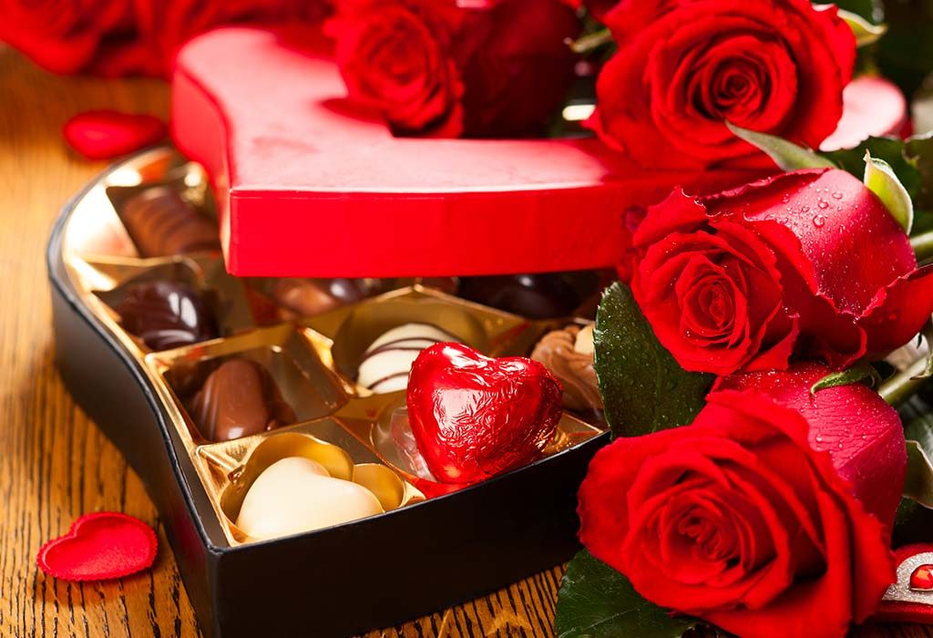 Red Roses and Chocolate Box
