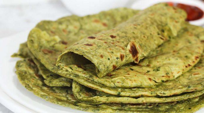 hariyali parathas recipe