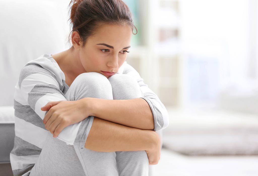 A woman sad