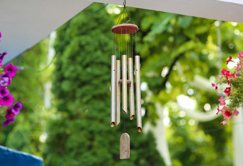 Hang wind chimes at home