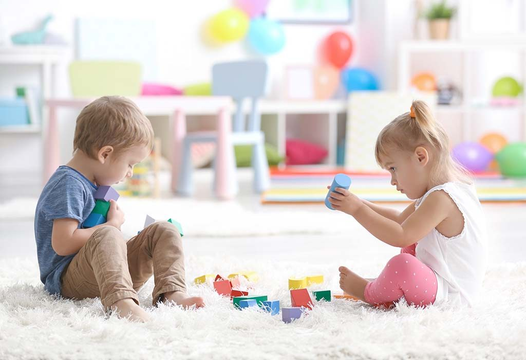 Two kids playing together