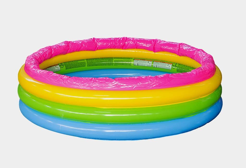 inflatable pool as playpen