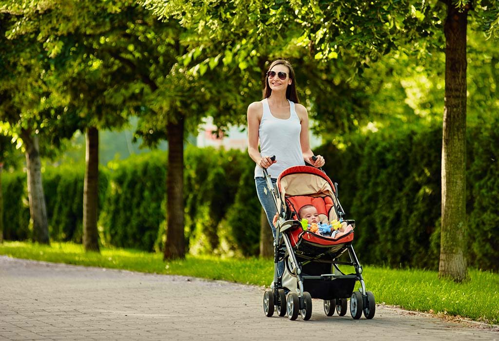 get a baby scooter or stroller