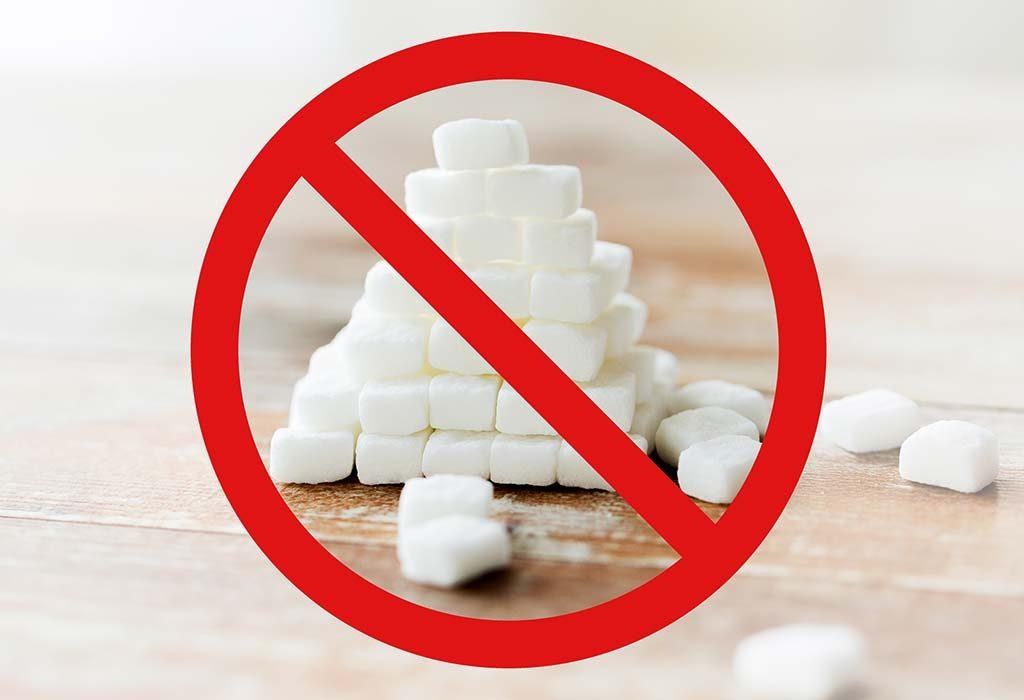 restrict intake of sugar