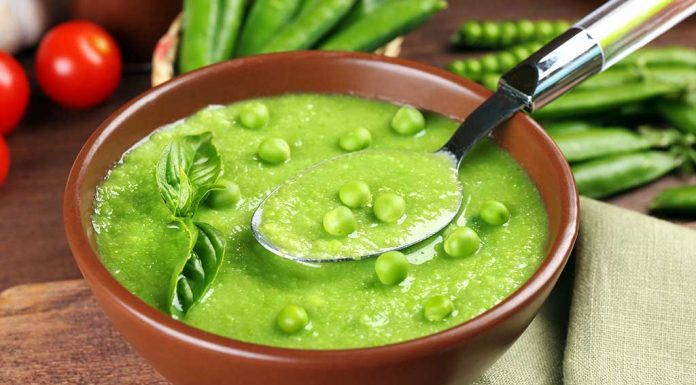 Green peas and cherry tomato soup Recipe