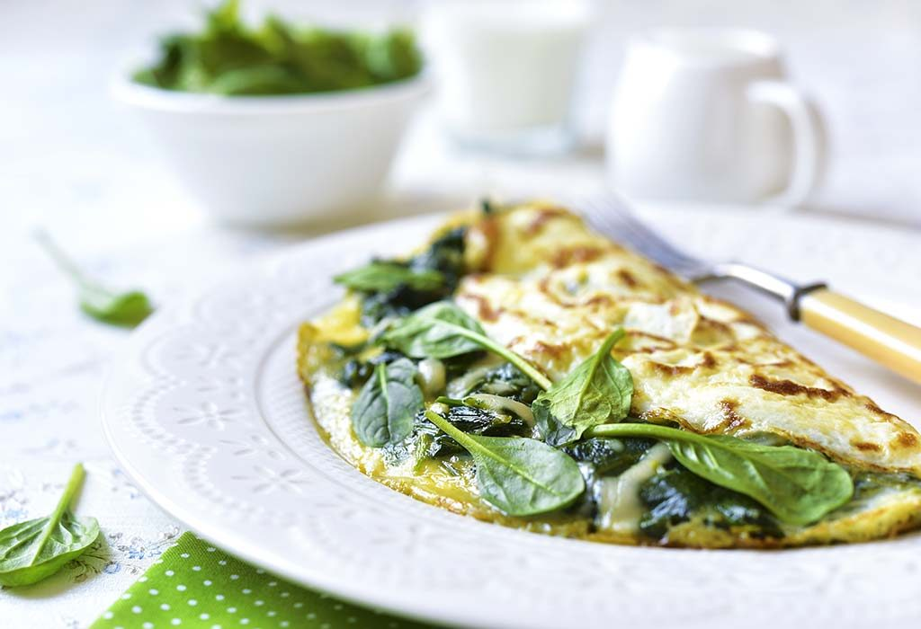 Goat Cheese, Meat and Spinach Omelette