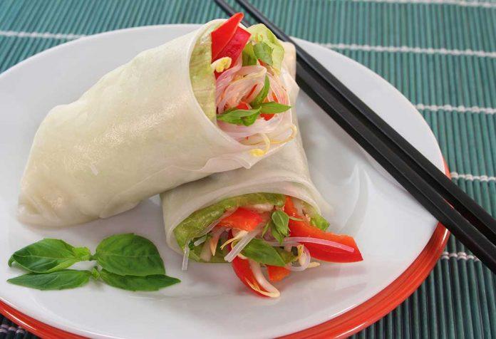 vegetable rice roll recipe