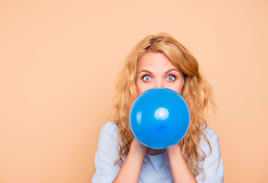 Blow balloons to get rid of facial fat