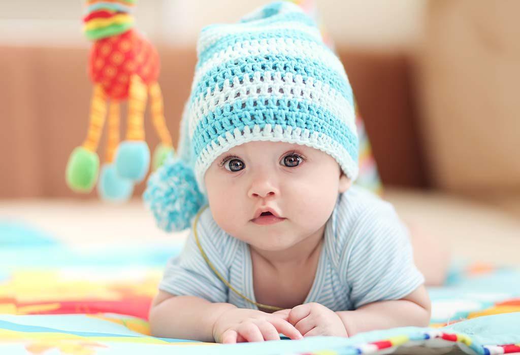 A cut baby boy