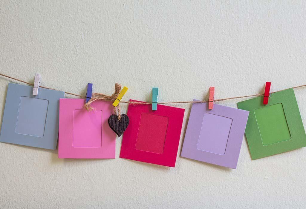 clothesline wall photo frame