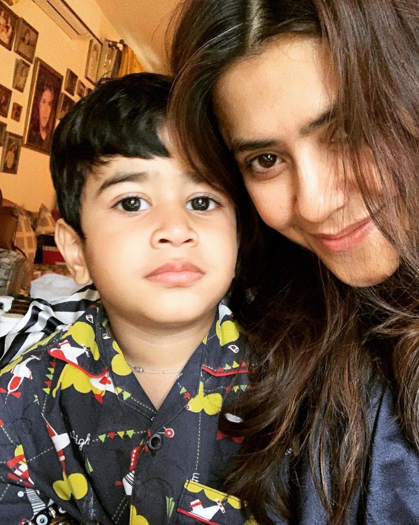 Ekta Kapoor with nephew Laksshya.