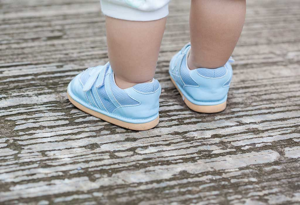 Baby Wearing Cute Shoes