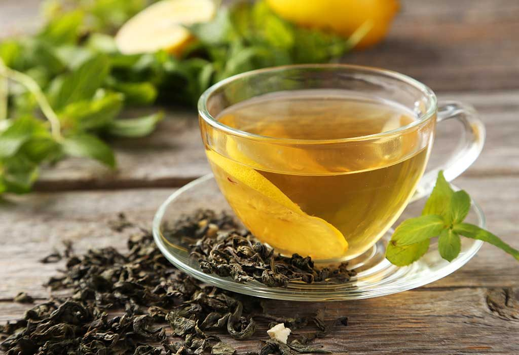 Green tea to reduce neck fat