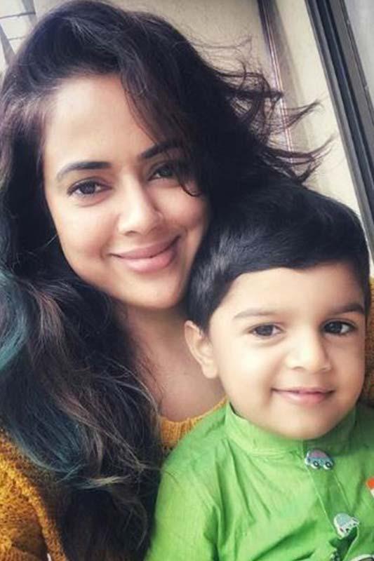 Sameera Reddy with son Hans