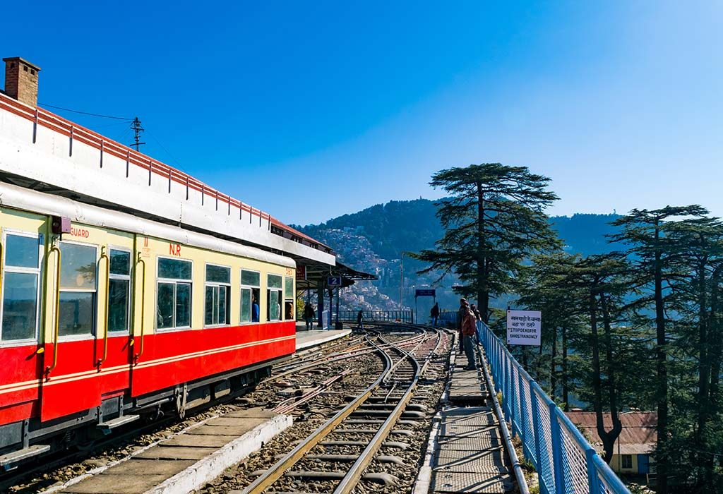 Kalka to Shimla via Train