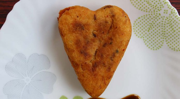 Stuffed Aloo Tikki Hearts Recipe