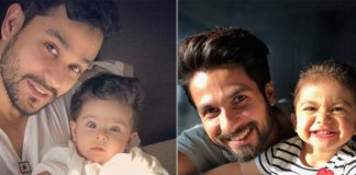 Shahid Kapoor and Kunal Khemu with their respective daughters