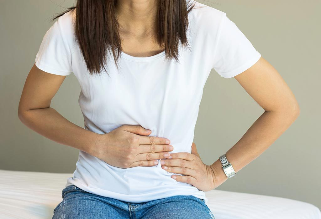 A woman with abdominal pain