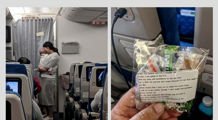 This New Mom Gave Her Flight Co-passengers the Cutest Warning About Having a Baby on Board