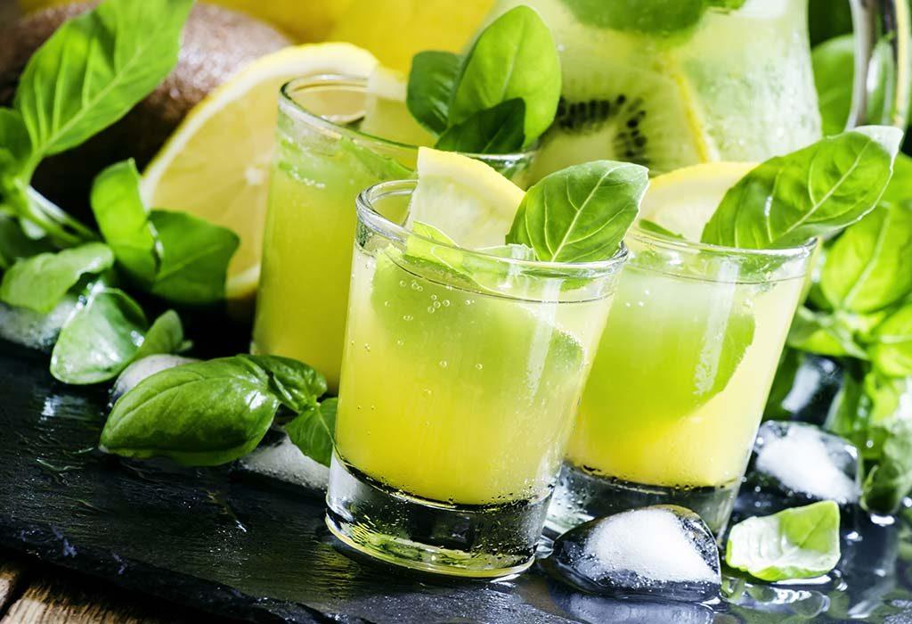lemon and basil iced tea